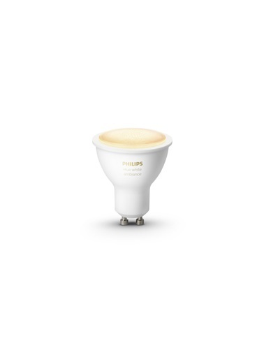 Philips Hue Beyaz Ambiyans GU10 Duylu Akıllı Spot Ampul Beyaz